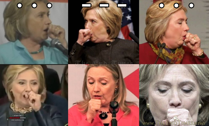 Image result for hillary coughing